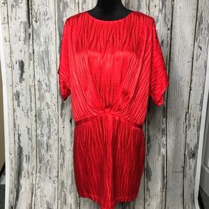 Ali Ro Red Silk Dress